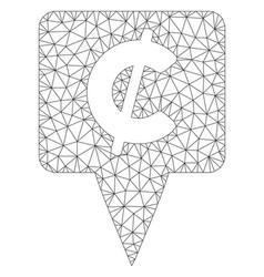 Cent map pointer polygonal frame mesh vector