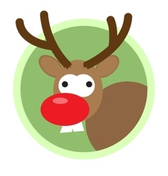 Christmas deer flat icon vector image
