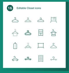 closet icons vector image