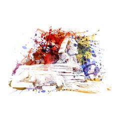 Color a sphinx vector
