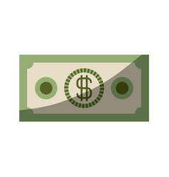 colorful silhouette of money bill with half shadow vector image