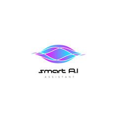colorful sound wave logo design template vector image