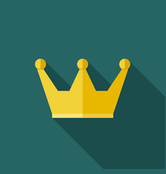 Crown cup icon vector