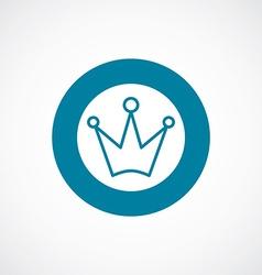 crown icon bold blue circle border vector image