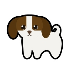Cute puppy little canine adorable vector