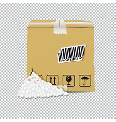Damaged box isolated on transparent background vector