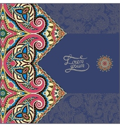 dirty dark blue floral ornamental template with vector image