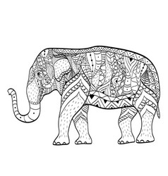 Elephant Coloring Book Adults Vector Images 87