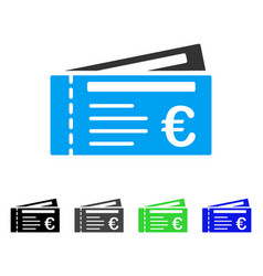 Euro tickets flat icon vector