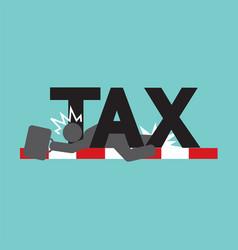 Fail in tax tax trouble concept black symbol vector