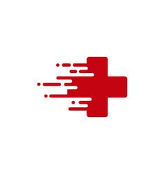 Fast medical logo icon design vector