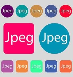 File JPG sign icon Download image file symbol 12 vector
