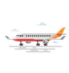 flat aircraft vector image