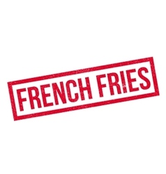 French fries rubber stamp vector