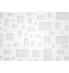Geometric grey background with squares vector