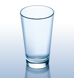Glass empty vector image