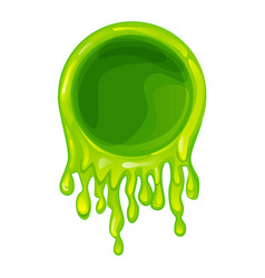 Green slime frame blank template for graphic vector
