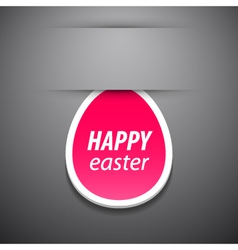 happy easter pink tag vector image