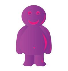 Happy purple jelly baby vector