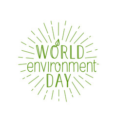 Happy world environment day logo isolated on vector