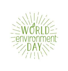 Happy world environment day logo isolated vector