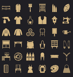 Item clothing icons set simple style vector