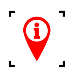 map pointer with information sign red vector image