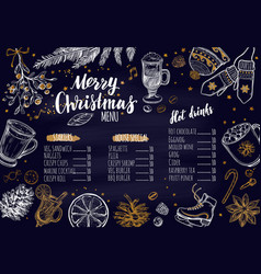 Merry christmas festive winter menu 1 vector