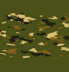 Military green camouflage pattern texture vector