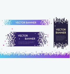 modern banner design with flow liquid texture for vector image