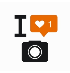 modern like orange icon on white vector image