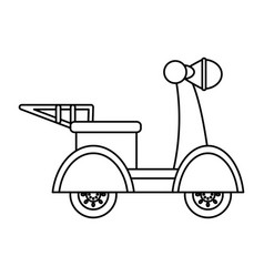 Motorcycle courier vehicle vector