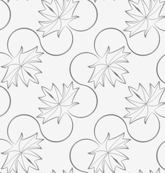 Perforated diagonal maple leaves on vine vector image