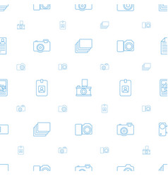 photo icons pattern seamless white background vector image