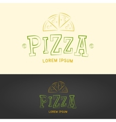 Pizza logo vector