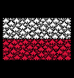 poland flag collage of component items vector image