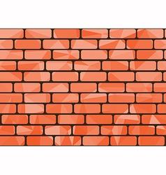 Polygon brick orange vector image