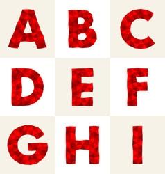 polygonal font vector image