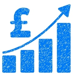 Pound Financial Bar Chart Grainy Texture Icon vector