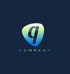 Q letter logo oval shape modern design vector