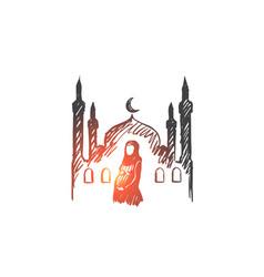religion pregnancy muslim arabic islam mosque vector image