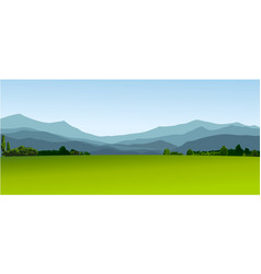 Rural landscape with green fields vector