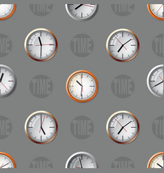 seamless pattern composed of images hours vector image