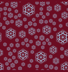 Seamless pattern round shapes on red background vector