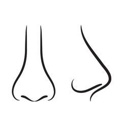 Set of hand drawing nose stock vector