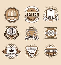 Set retro vintage insignias or logotypes set vector