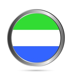 Sierra Leone flag button vector