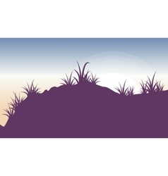 Silhouette of grass landscape backgrounds vector