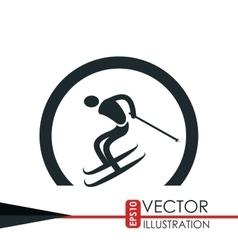 Ski sport design vector