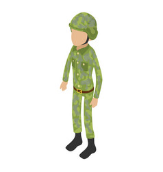 soldier war icon isometric 3d style vector image